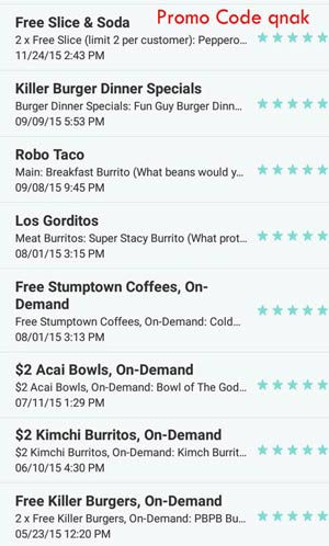 free food deals with postmates